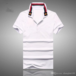 Wholesale Spot Shirt - Summer Europe and the United States new short-sleeved men's cotton collar stitching T-shirt high-grade cotton spot