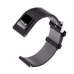 """Exibição de relógio oled on-line-20mm Assista Banda Pulseira Bluetooth 4.0 Pulseira Relógio Inteligente Substituível 0.42 """"OLED Correias de Couro para IOS Android"""