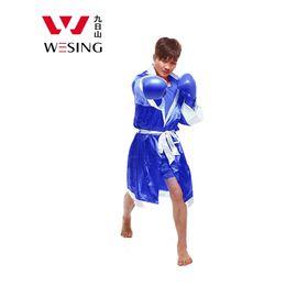 Wholesale uniform cloaks - Wesing Boxing Robes Men Muay Thai Cloak Kickboxing Uniforms New Style