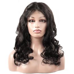 perruque de dentelle brésilienne lâche Promotion Cheveux brésiliens full lace perruques de cheveux humains 180 Density Lace Front perruques lâche vague perruques péruviennes préplumés cheveux non remy