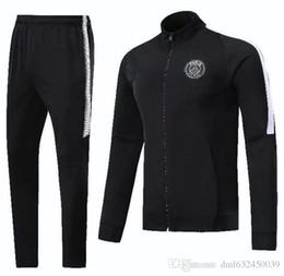 Wholesale sweat jogging - 2017 2018 france CAVANI sweat jogging psg surveying training suit jacket 17 18 paris NEYMAR JR MBAPPE Sportswear suit