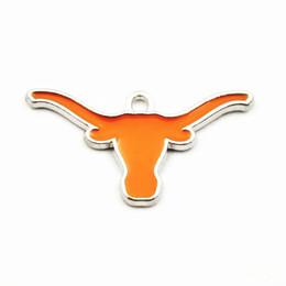 Argentina 20 unids / lote NCAA Texas Longhorns Sports Team Logo Floating Dangle Charms Colgante Para El Collar Pulsera de Cadena Pendiente Joyería Diy supplier texas charm bracelet Suministro