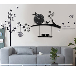 2019 regali all'ingrosso dell'insegnante Orologio da parete digitale Design moderno da cucina Orologio da parete grande Orologio da soggiorno Decorazione Casale grande orologio con adesivi