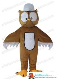 Gewohnheit eule kostüm online-Erwachsene Eule Maskottchen Kostüm Outfits Custom Tier Maskottchen für Werbung Team Maskottchen Charakter Design Entflechtung Mascotte Qualität Maskottchen Mak