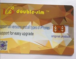 Wholesale 5c Unlock - Free DHL NEW Double-Sim Unlock Card for iPhone X 8 7 6S 6 5S 5C SE IOS11.X GPPLTE RSIM GEVEY Double-SIM Card