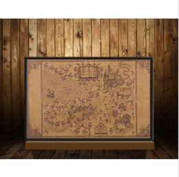 Wholesale Map Live - Map of The Wizarding World of Harry Potter Poster Movie Vintage Paper Harry Potter Map Collectors Poster Magic Old World Map Wizarding