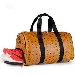 Wholesale Top Leather Bags For Men - Luxury Brand M Designer Duffel Bags for Men Women Big Capacity Weekender Travel Bag Top Quality Genuine Leather Handbag