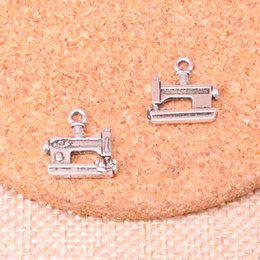 sewing machine necklace 2018 - 86pcs Antique silver sewing machine Charms Pendant Fit Bracelets Necklace DIY Metal Jewelry Making 15*15mm