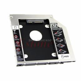 """2019 lenovo caso alumínio 1 PC Universal 9.5mm 2.5 """"SATA 2 Disco Rígido HDD Driver Caddy Para CD DVD Optical Bay Drop Shipping"""
