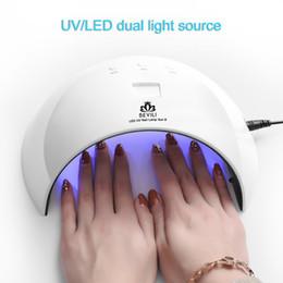 beleza jp Desconto 24 W Prego Lâmpada Lâmpada 8 LEDs para Todos Os Géis Polonês Manicure Nail Art Acessórios USB de Carregamento WH998