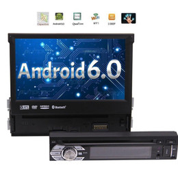 Wholesale dvd bluetooth car radio - Single Din Android 6.0 Head Unit 7 inch Car Stereo with Adjustable Viewing Angle Support GPS,car DVD CD Player,Bluetooth