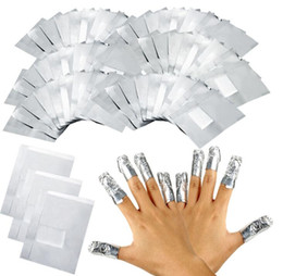Wholesale Nail Remover Foil Wraps - NEW ARRIVAL 100Pcs Lot Aluminium Foil Nail Art Soak Off Acrylic Gel Polish Nail Removal Wraps Remover Makeup Tool Nail Carel