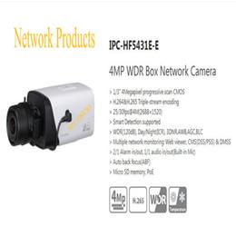 Wholesale Ip Camera Outdoor Wdr - Free Shipping DAHUA CCTV IP Camera 4MP WDR Box Network Camera With POE without Logo IPC-HF5431E-E