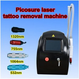 Wholesale price carbon - picosure laser price Pigment Remover Machine Qswitch picosecond Laser Tattoo Remover nd yag laser carbon black doll device