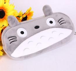 Sacchetto del telefono del fumetto dei bambini Super Kawaii Totoro giocattoli di peluche regalo per bambini astuccio 20cm peluche portachiavi ciondolo portafoglio borsa cosmetica da
