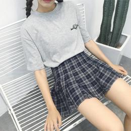 2019 faldas lolita dulce Falda a cuadros de mujer Lolita Style Imperio Kawaii Sweet Above Knee Skirts A Line Mini Uniformes escolares lindos Saia Faldas Ladies Jupe rebajas faldas lolita dulce