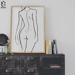 2019 chica sex print Moderno Simple Girl Canvas Poster Minimalista estilo nórdico Wall Art Print Painting Decoración Pictures Home Decor chica sex print baratos