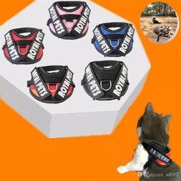 Английский набрав онлайн-Мода Pet груди ремни английское письмо открытый регулируемая собака поводки защитный тип домашние животные поставки тягового Каната высокое качество 11ab Ww