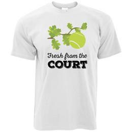 Логотип суда онлайн-Свежий Из Теннисного Корта Печатный Дизайн Слоган Логотип Спорт Мужская Футболка На Заказ Хорошее Качество