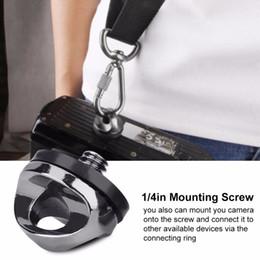 placa de montaje de liberación rápida Rebajas Adaptador de conexión a rosca con 5 piezas de 1 / 4in Montaje para cámara Correa de hombro Placa de liberación rápida