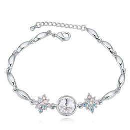 2019 swarovski charme armbänder Kristall von Swarovski Elements Charm Bracelets Hochzeit Modeschmuck Damen Accessoires Weiß Vergoldet 23239 rabatt swarovski charme armbänder