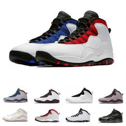 scarpe nere per scuola Sconti 10 10s cemento scarpe da basket sneaker per gli uomini scuola posteriore Bianco nero fumo grigio Bobcats Chicago Steel Mens 10 Sneakers uomo sport corsa