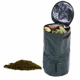 Sacchetto della composta dell'iarda del giardino della cucina dei rifiuti organici della dimensione 2 Trasporto libero della piantatrice del panno del PE ambientale da