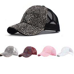 Bling Strass Blume Denim Baseball Kappe Frauen Mode Stickerei Rose Hysterese Hut Größe Einstellbar Kappen Kopfbedeckungen Für Damen Baseball-kappen