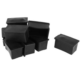 Wholesale Table Cover Rubber - Rubber Chair Table Foot Cover Furniture Leg Protectors 25x50mm 10 Pcs