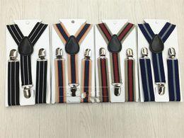 Wholesale British Matches - Children Fashion Show Suspenders Retro Lattice British Style Straps Leisure Practical Non Slip Braces Adjustable Length All Match 3zy Y