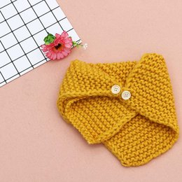 Wholesale Crocheted Baby Shawls - Unisex Autumn Winter Baby Toddler Bibs Children's Knitted Crochet Scarf Shawl Warm Knit Scarf For Boys Girls 0-4Y Christmas Gift