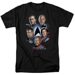 Star Trek Captains STARFLEET'S FINEST Camiseta para adultos con licencia Todos los tamaños desde fabricantes