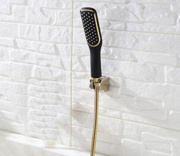 Wholesale Shower Jet Spray - Free shipping Toilet Gold and black Hand held Shower Shattaf Spray Douche kit Jet & abs Golden Holder & 1.5m Hose BD458