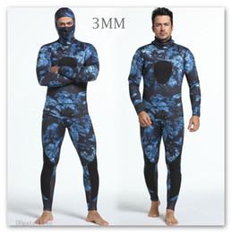 Wholesale Wetsuit Swimsuit - Diving Suit Neoprene 3MM Men Pesca Diving spearfishing wetsuit Combinaison Swimsuit Warm Split Suits Two-piece Wet Suit Swimming Jumps Rash