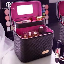 Canada Femmes imperméable à l'eau cosmétique sac bijoux boîte de rangement voyage beauté kits organisateur valise portable trousse de maquillage cheap jewelry suitcase Offre