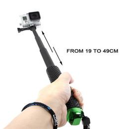 palos de plástico para selfie Rebajas 2018 19 pulgadas 48 cm Portable Gopro Selfie Stick Monopod extensible aleación de aluminio varilla telescópica Gopro deportes cámara accesorios DHL envío