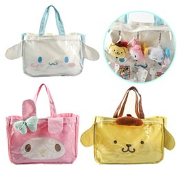 Wholesale Japanese Pink Girls - Japanese JK Uniform Preppy Style Cartoon Animal Shoulder Bag Women Transparent Handbag Lolita Girls Hand Bags