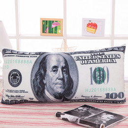 Wholesale Big Two Game - US Dollar Pillow Plush Currency Money Pillow 27.3in. Creative Dollar Bill Cushion Two Sides Print for Kids Room Decoration
