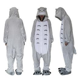 Trajes de totoro online-Polar Fleece Totoro Unisex Onesie Cosplay sudaderas / pijamas / ropa de dormir