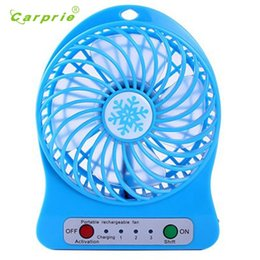 Wholesale Usb Operated Fan - New Portable Rechargeable LED Fan air Cooler Mini Operated Desk USB 18650 Battery 18mar2 Dropshipping