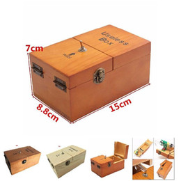 red wooden boxes Coupons - Funny Toy Desk Decoration Gifts Electronic Useless Box Wooden Boy Girl Kid Interesting Pastime Machine Stress Reduction
