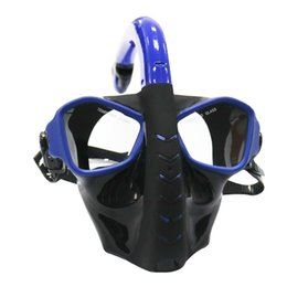Wholesale Lens Panoramic - Full Face Diving Mask 180 View Panoramic Diving Mask with Tempered Glass Lens Scuba Glasses for Underwater Snorkel Swimming