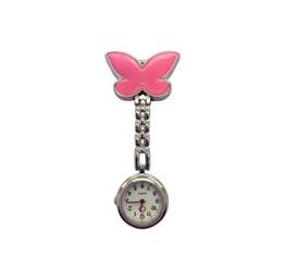 Canada Belle forme de conception de papillon unisexe femmes dames infirmière montres de poche en gros médecin médical accrocher pendre accrocher montres à quartz Offre
