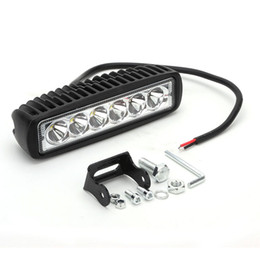 Wholesale 24v off road lights - 18W Work Light 6inch Bar Lamp for Motorcycle Tractor Boat Off Road Truck SUV Spot Flood 12v 24v