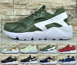 Wholesale I Shoes Boots - Women Air Huarache 1 I Mens Running Shoes Cheap vampire Blue Red Sneakers Triple Huaraches 1 Boost Trainers huraches Man Sports Shoes Boots