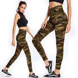 Wholesale Camouflage Leggings Wholesale - Elastic Sport Camouflage Leggings Summer Women Yoga Pants 3D Print Thin Fleece Slim Capris Quick Dry Trouser Skinny Gym Jeggings LJJO4885