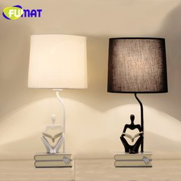 Led Table Lamps Modern Football Resin Table Lamps Cloth Lampshade Resin Base Art Deco Table Light For Bedroom Bedside Cartoon Lighting Fixture Lights & Lighting