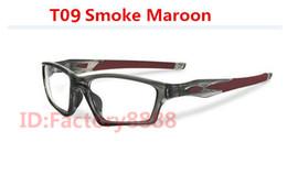 Wholesale Optical Man Eyeglass Frame - Wholesale , Excellent quality Satin black eyewear crosslink sweep sport eyeglasses frames 20 colors for optical glasses Men OX8031 with box