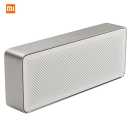 xiaomi square bluetooth speaker Coupons - Original Xiaomi Square Box 2 model 1200mAh AUX Line-in Hands-free Wireless Bluetooth V4.2 Speaker With Mic