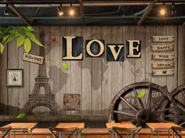 arte de parede 3d amarela Desconto Mural da foto do vintage europeu para café restaurante Wall Art Decor Novidade Capatial papel de parede Rolls tamanho personalizado murais